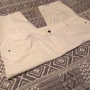 Capris - White